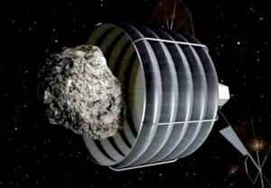 La NASA también ha ideado bolsas espaciales para atrapar pequeños asteroides y traerlos a la Tierra