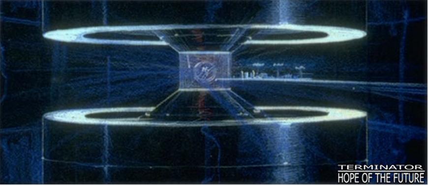 Concept Art de la máquina del tiempo para Terminator 2