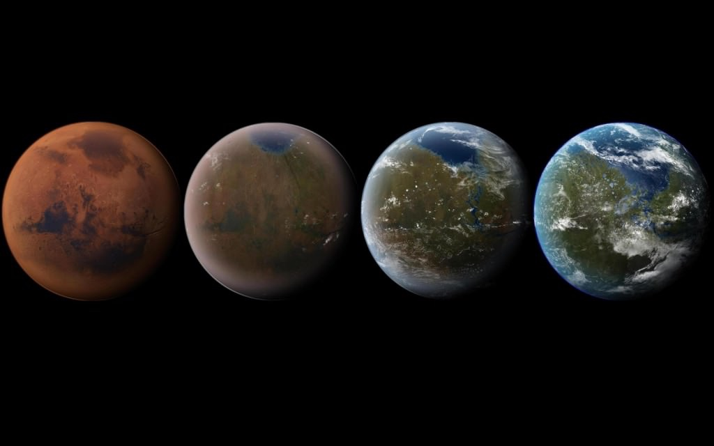 Impresión artística de la terraformación de Marte. Imagen de Daein Ballard